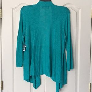 Kasper Sweaters - NWT   Kasper open front sweater- cayman blue